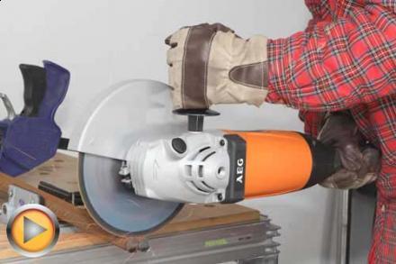 Test szlifierki kątowej AEG WS 2200-230