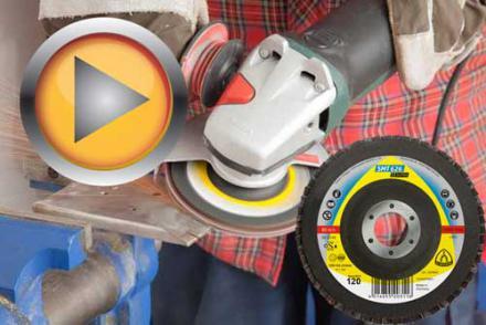 Test ściernicy listkowej talerzowej Klingspor SMT 626 Supra